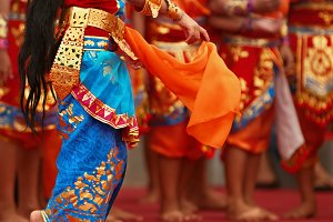 Balinese dance background