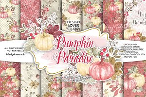 Pumpkin Paradise digital paper pack