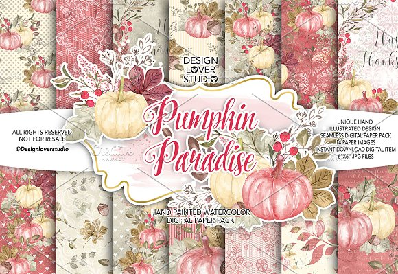 Pumpkin Paradise Digital Paper Pack