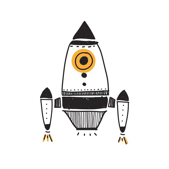 Spaceship Doodle Style