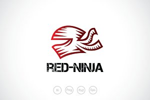 Red Ninja Logo Template