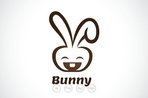 Happy Bunny Logo Template