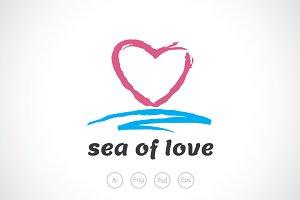 Sea of Love Logo Template
