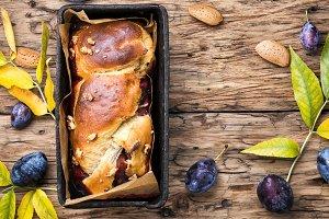Brioche with plum