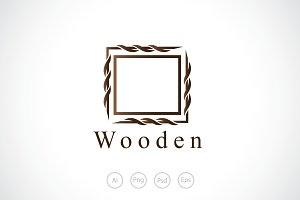 Wooden Border Logo Template