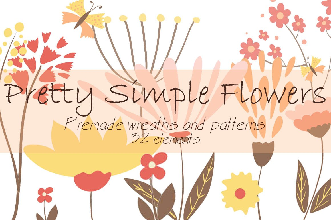 Pretty Simple Flowers Illustrations Creative Market