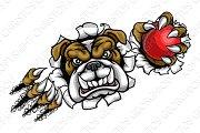 Bulldog Cricket Sports Mascot