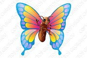 Cute cartoon butterfly