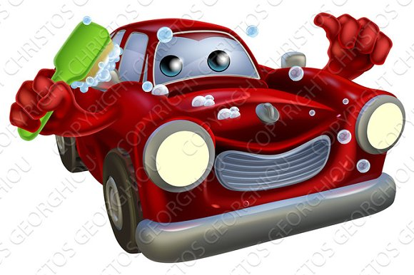 Car Valet Cartoon