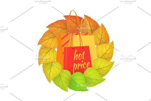 Paper Bags Hot Price In A Wreath From Leaves