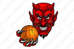 Devil Basketball Sports Mascot