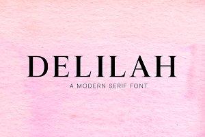 Delilah - Modern Serif Font