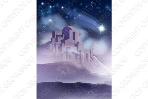 The Christmas Star of Bethlehem Illustration