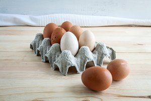 Eggs of different types