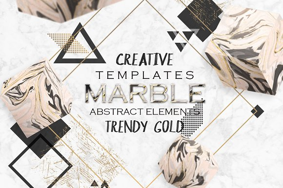 Gold MARBLE Creative Cards