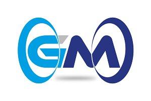 Modern GM Letter Logo Template