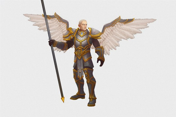3D Fantasy: Bitgem - Low Poly Angel Male