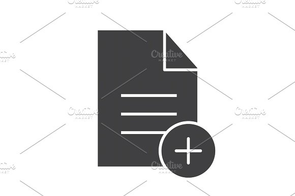 Add New Document Glyph Icon