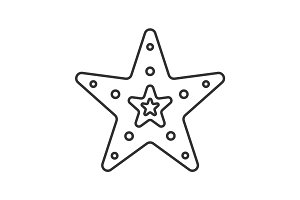 Sea star linear icon