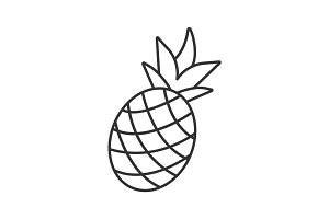 Pineapple linear icon