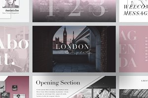 LONDON Keynote Template + Gift