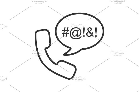Offensive Phone Talk Linear Icon