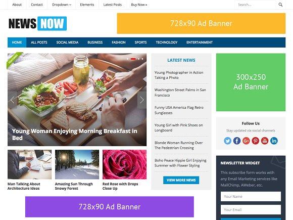 NewsNow - Powerful Magazine Theme
