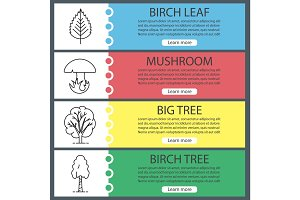 Forest web banner templates set