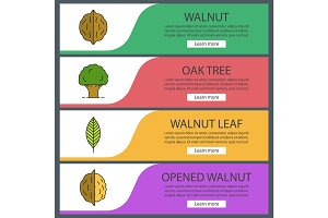 Forestry web banner templates set