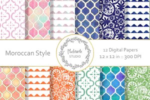 Moroccan Digital Paper