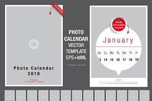 Photo Calendar template 2018