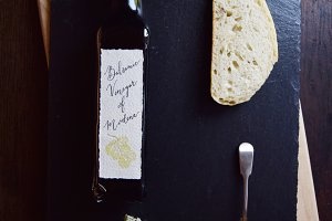 Balsamic Vinegar Bottle Bread Slate