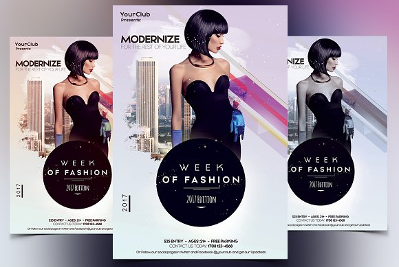 Week of Fashion - PSD Flyer-Graphicriver中文最全的素材分享平台