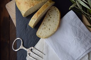 Antique Bread Fork | Napkins | Bread
