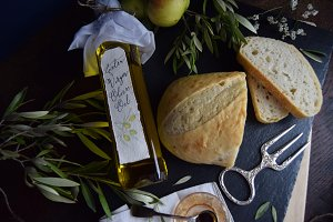 Calligraphy Label | Olive Oil Bottle