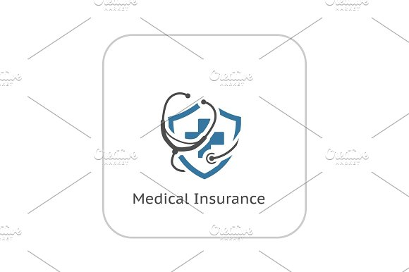 Medical Insurance Icon Flat Design