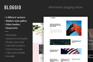 BLOGGIO-Blogger and writer WP theme