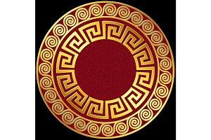 vector Traditional vintage gold Greek ornament, Meander