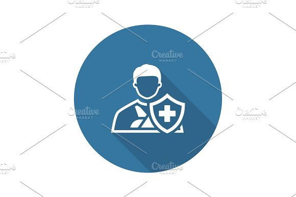 Accident Insurance Icon Flat Design