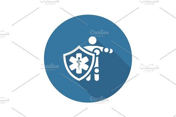 Life Insurance Icon Flat Design