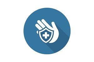 Insurance Icon. Flat Design.