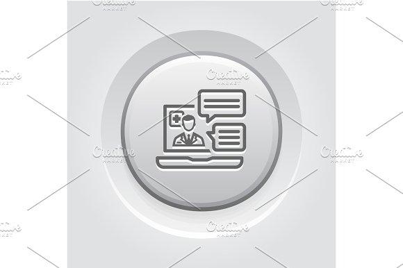 Online Medical Services Icon Grey Button Design