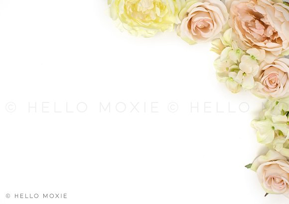 Floral Flat Lay Stock Photography