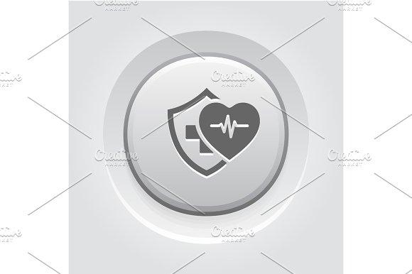 Health Insurance Icon Grey Button Design