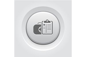 Medical Services Icon. Grey Button Design.