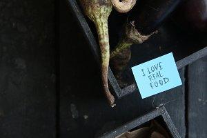 Organic or healthy food idea. I love real food tag.