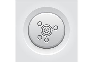 Business Goals Icon. Grey Button Design.