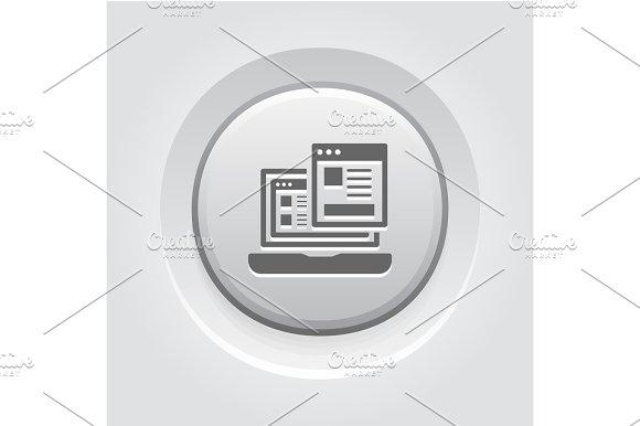 Landing Page Icon Grey Button Design