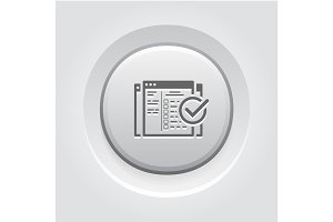Setup Campaign Icon. Grey Button Design.