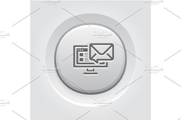 E-mail Marketing Icon Grey Button Design